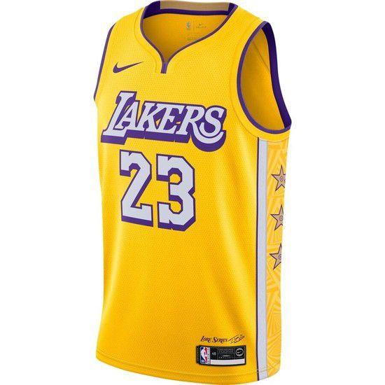 Regata Nike Los Angeles Lakers City Edition 2020 Swingman - Amarelo