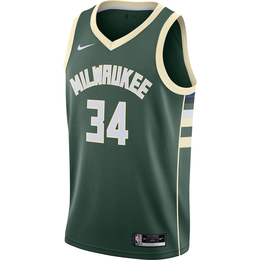 Regata Nike Milwaukee Bucks Icon Edition 2020/21 Swingman