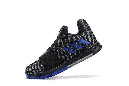 Tênis Adidas Harden Vol. 3 Black Active Blue Masculino - Preto/Azul