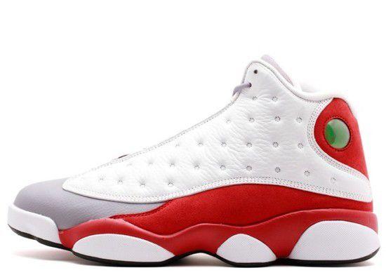 Tênis Air Jordan 13 Retro Grey Toe Masculino - Branco/Vermelho/Cinza