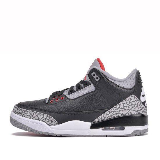 Tênis Air Jordan 3 Retro Black Cement - Preto/Cinza/Vermelho