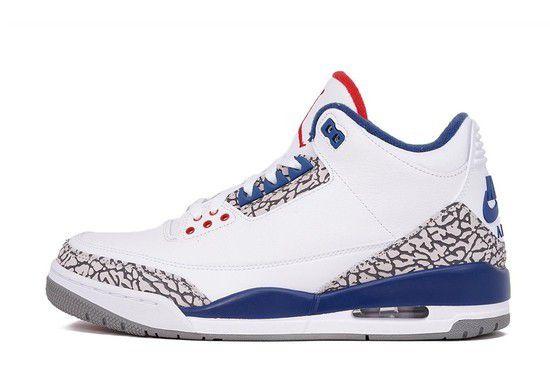 Tênis Air Jordan 3 Retro Masculino - Branco/Azul