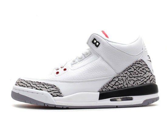 Tênis Air Jordan 3 Retro White Cement 2011 - Branco/Preto