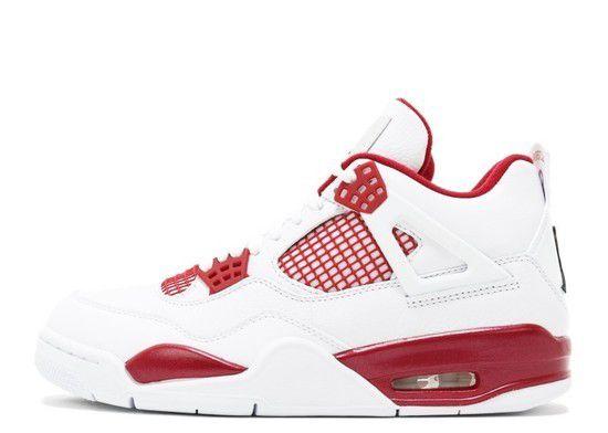Tênis Air Jordan 4 Retro Alternate 89 Masculino - Branco/Vermelho
