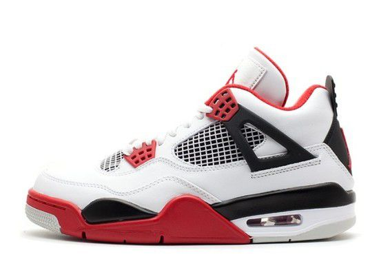 Tênis Air Jordan 4 Retro Fire Red Masculino - Branco/Vermelho/Preto