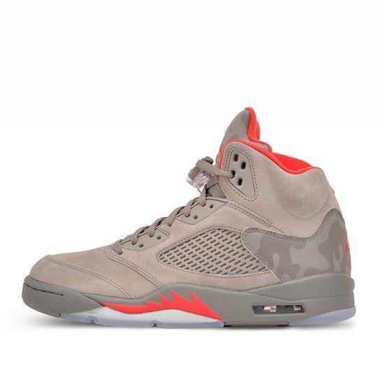 Tênis Air Jordan 5 Retro Masculino - Stucco/Vermelho