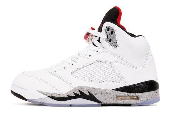 Tênis Air Jordan 5 Retro White Cement Masculino - Branco