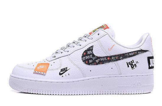 Tênis Nike Air Force 1 '07 Premium JUST DO IT - Branco