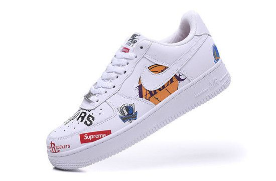 Tênis Nike Air Force 1 low '07 Supreme NBA - Branco