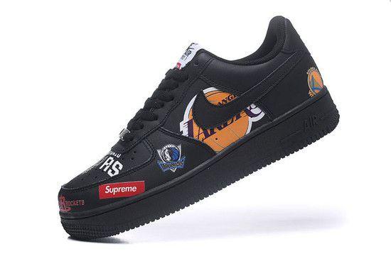 Tênis Nike Air Force 1 low '07 Supreme NBA - Preto