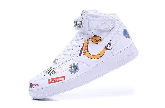 Tênis Nike Air Force 1 MID '07 Supreme NBA - Branco