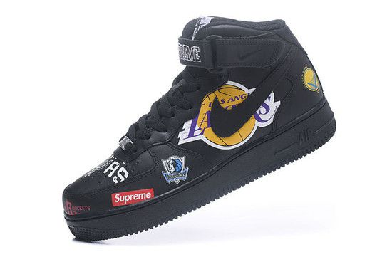 Tênis Nike Air Force 1 MID '07 Supreme NBA - Preto