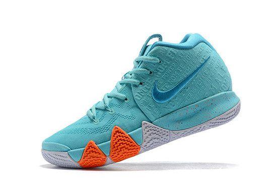Tênis Nike Kyrie 4 Aqua Neo Masculino - Azul/Laranja