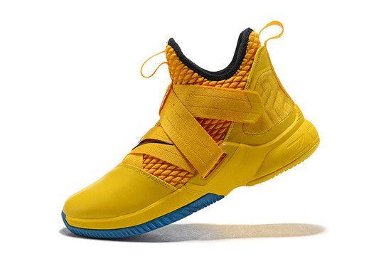 Tênis Nike Lebron Soldier XII Amarelo/Azul/Vermelho