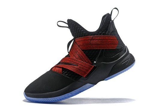 Tênis Nike LeBron Soldier XII Black Red Masculino