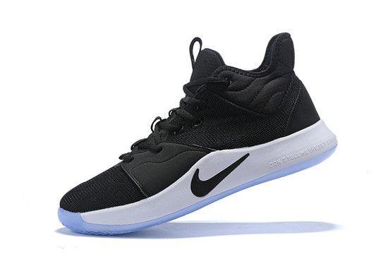 Tênis Nike Paul George 3 Black Masculino - Preto/Branco
