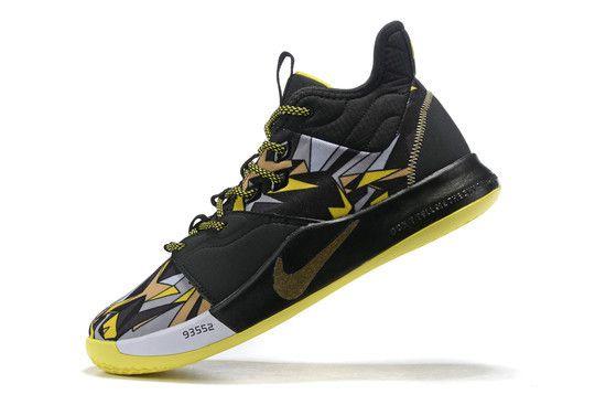 Tênis Nike Paul George 3 Mamba Mentality - Preto/Cinza/Amarelo