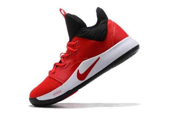 Tênis Nike Paul George 3 University Red - Vermelho/Preto/Branco