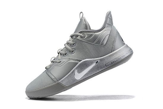 Tênis Nike Paul George 3 X NASA 50th Anniversary - Cinza Metalico