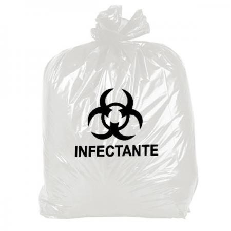 SACO LIXO 15L C/100 BRANCO INFECTANTE