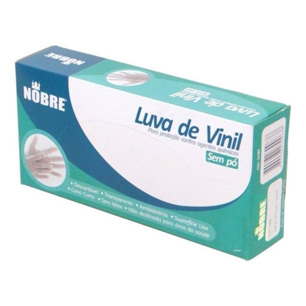 LUVA VINIL S/AMIDO G C/100 NOBRE