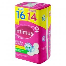 Absorvente Intimus Gel Cobertura Seca com Abas - Leve 16 Pague 14