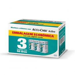 Accu-Chek Active Combo  - Refil / Tiras Medir Glicemia - 3x50 Unidades - Roche