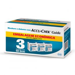 Accu-chek guide combo  - refil / tiras medir glicemia - 3x50 unidades - roche