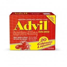 Advil 400mg - Alívio para Dores de Cabeça - 20 cápsulas