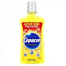 Antisseptico Bucal Cepacol Original - Leve 500ml Pague 350ml