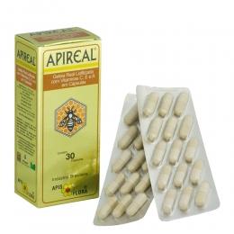 Apireal Geleia Real Liofilizada com Vitaminas E, A e C - c/ 30 cápsulas - Apis Flora