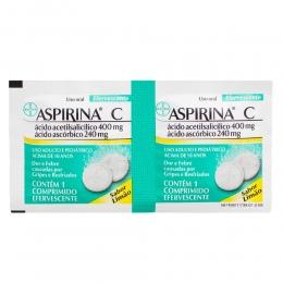 Aspirina C Comprimidos Efervescentes com 2 Unidades Sabor Limão - Bayer