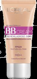 BB CREAM L'ORÉAL PARIS CREME MILAGROSO 5 EM 1 FPS 20 MÉDIA 30ML