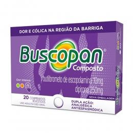 Buscopan Composto 10mg + 250mg com 20 comprimidos
