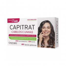 CAPITRAT -  PARA CABELOS E UNHAS - C/ 60 CAPS GELATINOSAS - KLEY HERTZ