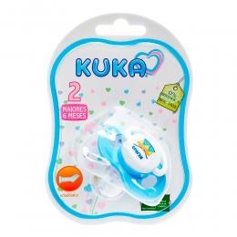Chupeta Azul - Ortodôntico Soft - N2 Acima de 6 Meses - Ref. 2486 - Kuka
