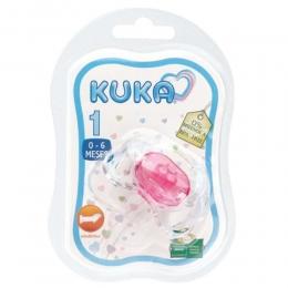 Chupeta Ortodôntica Rosa - Ref. 2012 - N1 de 0 a 6 Meses - Kuka