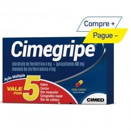 Cimegripe - Paracetamol + clorfeniramina + fenilefrina - Gripes e Resfriados - com 20 Cápsulas