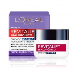 Creme Anti-idade Revitalift Hialurônico Cuidado Noturno - 49g - L`oréal Paris