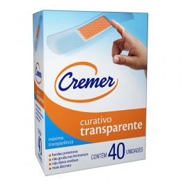 Curativo Cremer Care Transparente 40 unidades