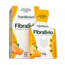 FIBRALÍVIO - SUPLEMENTO DE FIBRAS SABOR ABACAXI - C/ 10 SACHÊS DE 26G CADA - NUTRILIBRIUM