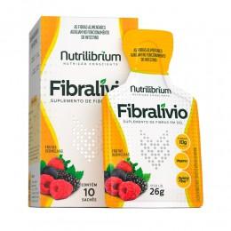 FIBRALÍVIO - SUPLEMENTO DE FIBRAS SABOR FRUTAS VERMELHAS - C/ 10 SACHÊS DE 26G CADA - NUTRILIBRIUM