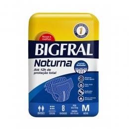 Fralda Geriátrica Bigfral Noturna Tamanho M com 08 unidades
