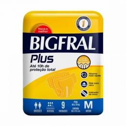 Fralda Geriátrica Bigfral Plus Tamanho M com 09 unidades