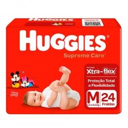 Fralda Huggies Supreme Care - Pacotão M com 24 Unidades
