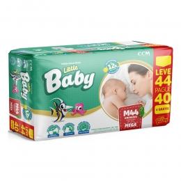 Fralda Little Baby Tamanho M - 5 a 10kg - Leve 44 Pague 40 unidades
