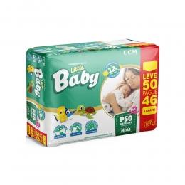 Fralda Little Baby Tamanho P - ate 5kg - Leve 50 Pague 46 unidades