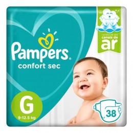 Fralda pampers confort sec tam. G  - 9 a 12,5kg 38 unidades