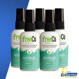 Kit 05 neutralizador de odores - freecô original 50ml