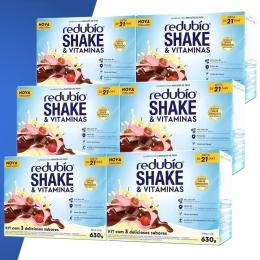 Kit c/ 6 Redubio Shake c/3 sabores